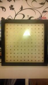 Die Matrix ohne Blende im Ikea Rahmen.