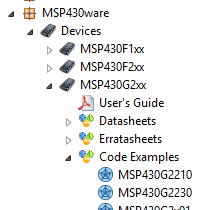For the Launchpad you have to choose MSP430430G2xx in the Device Menu.